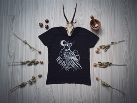 Nevermore tshirt damski