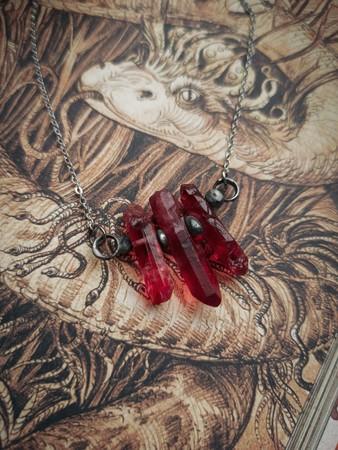 Naszyjnik Triple Red Crystal II (1)