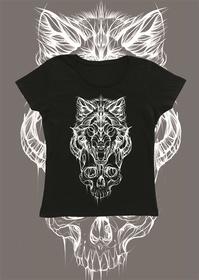 Wolf tshirt damski