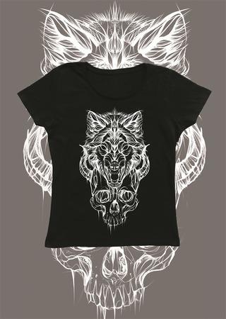 Wolf tshirt damski (1)