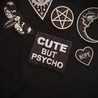 Naszywka Cute but psycho (2)